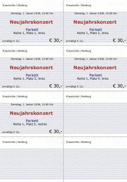 TicketCreator - Eintrittskarten-Vorlagen, Tickets ...